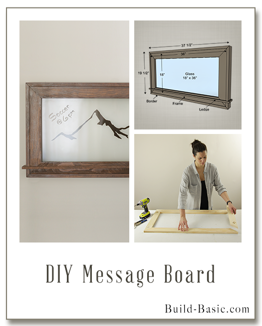 DIY Message Board by Build Basic - Display Frame