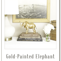 Gold-Painted Elephant – Craft by @BuildBasic www.build-basic.com