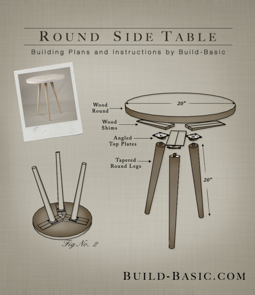 Build a Round Side Table - Building Plans by @BuildBasic www.build-basic.com