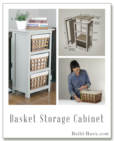 Build a Basket Storage Cabinet - Building Plans by @BuildBasic www.build-basic.com