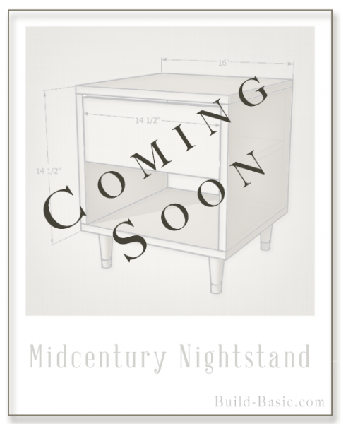 Build a Midcentury Nightstand - Building Plans by @BuildBasic www.build-basic.com