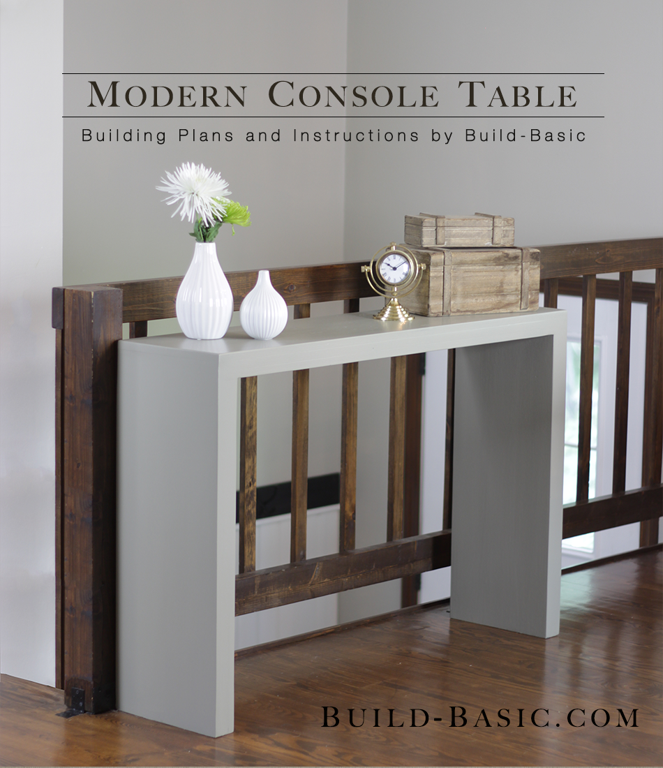 build a modern console table build basic. Black Bedroom Furniture Sets. Home Design Ideas