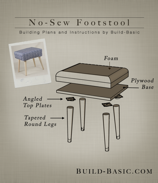 Build A No Sew Footstool Build Basic