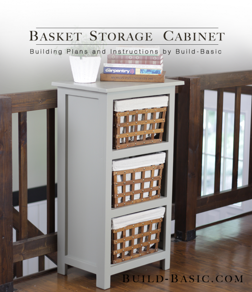 build a basket storage cabinet - Baskets For Bookshelves