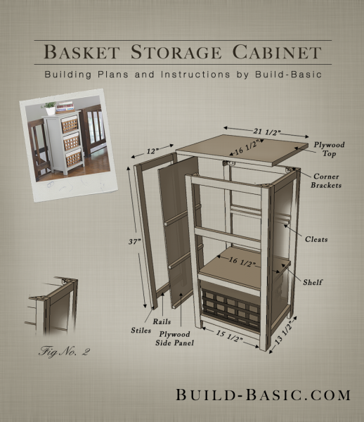 Build a Basket Storage Cabinet - Building Plans by @BuildBasic  www.build-basic - Build A Basket Storage Cabinet €� Build Basic