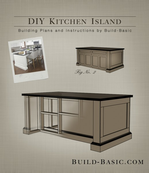 Build a diy kitchen island build basic for Making a kitchen island from cabinets