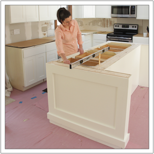 how to install kitchen island build a diy kitchen island build basic 24250