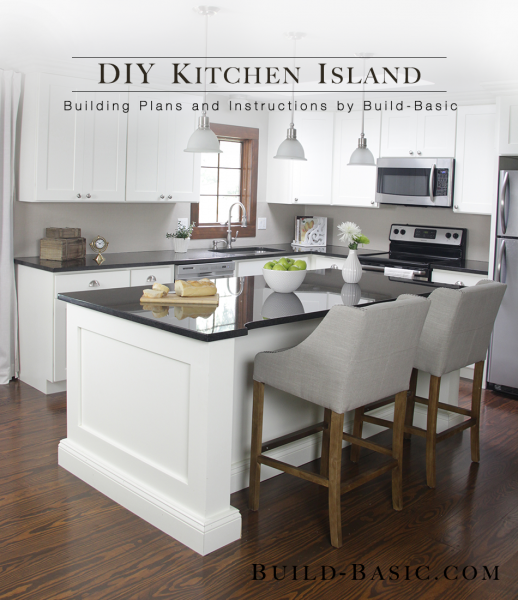 superior Building An Island In Your Kitchen #4: Build a DIY Kitchen Island - Building Plans by @BuildBasic www.build-basic