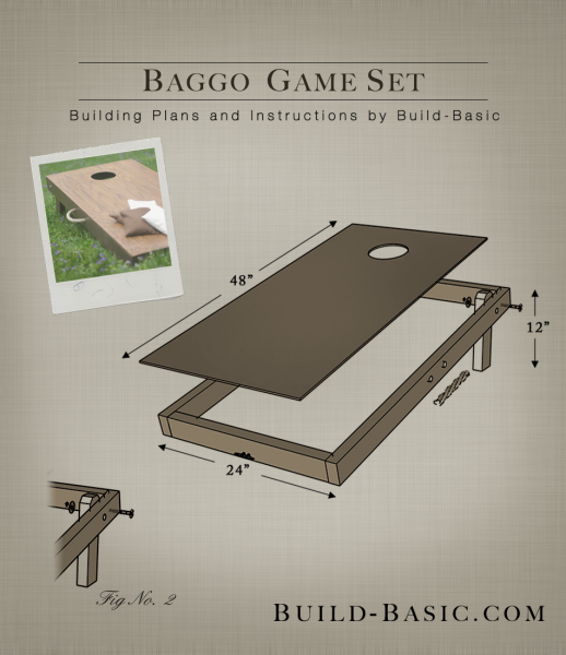 Build a Baggo Game Set - Building Plans by @BuildBasic www.build-basic.com