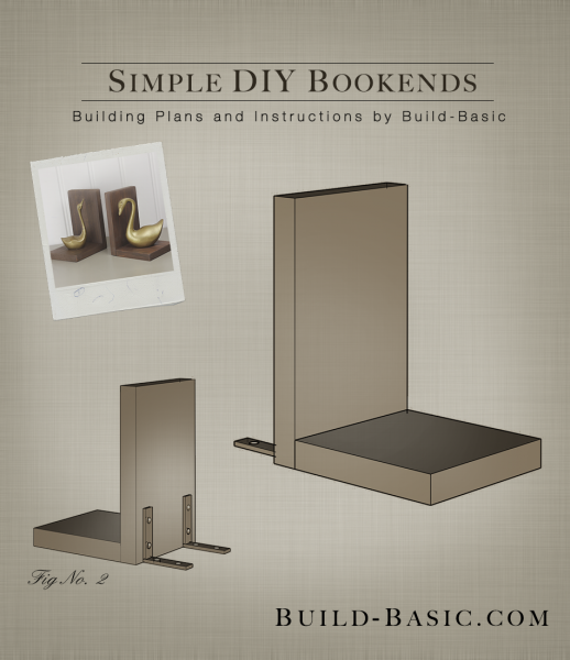 ... DIY Bookends - Building Plans by @BuildBasic www.build-basic.com