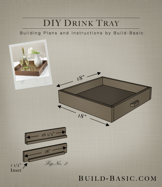 Build a DIY Drink Tray - Building Plans by @BuildBasic www.build-basic.com