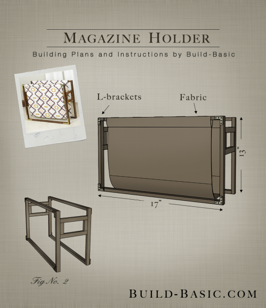 Build a Magazine Holder - Building Plans by @BuildBasic www.build-basic.com