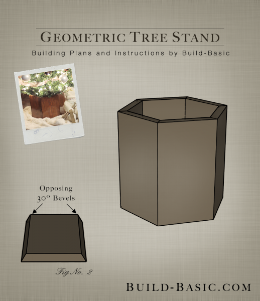 Build a Geometric Tree Stand - Building Plans by @BuildBasic www.build-basic.com