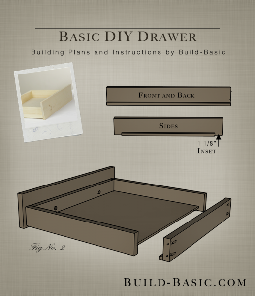 Build a Basic DIY Drawer - Building Plans by @BuildBasic www.build-basic.com