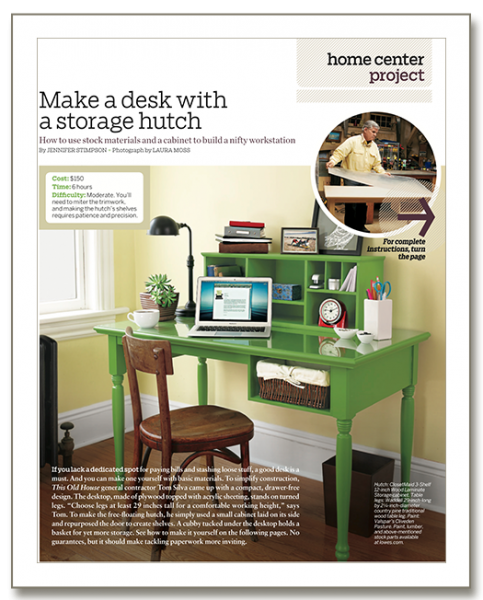 how to build a basic desk