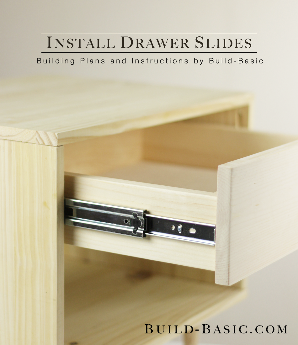 Cabinet Drawer Rails How To Install Drawer Slides Build Basic