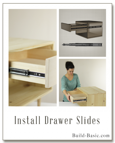 How To Install Drawer Slides   Building Plans By @BuildBasic Www.build Basic