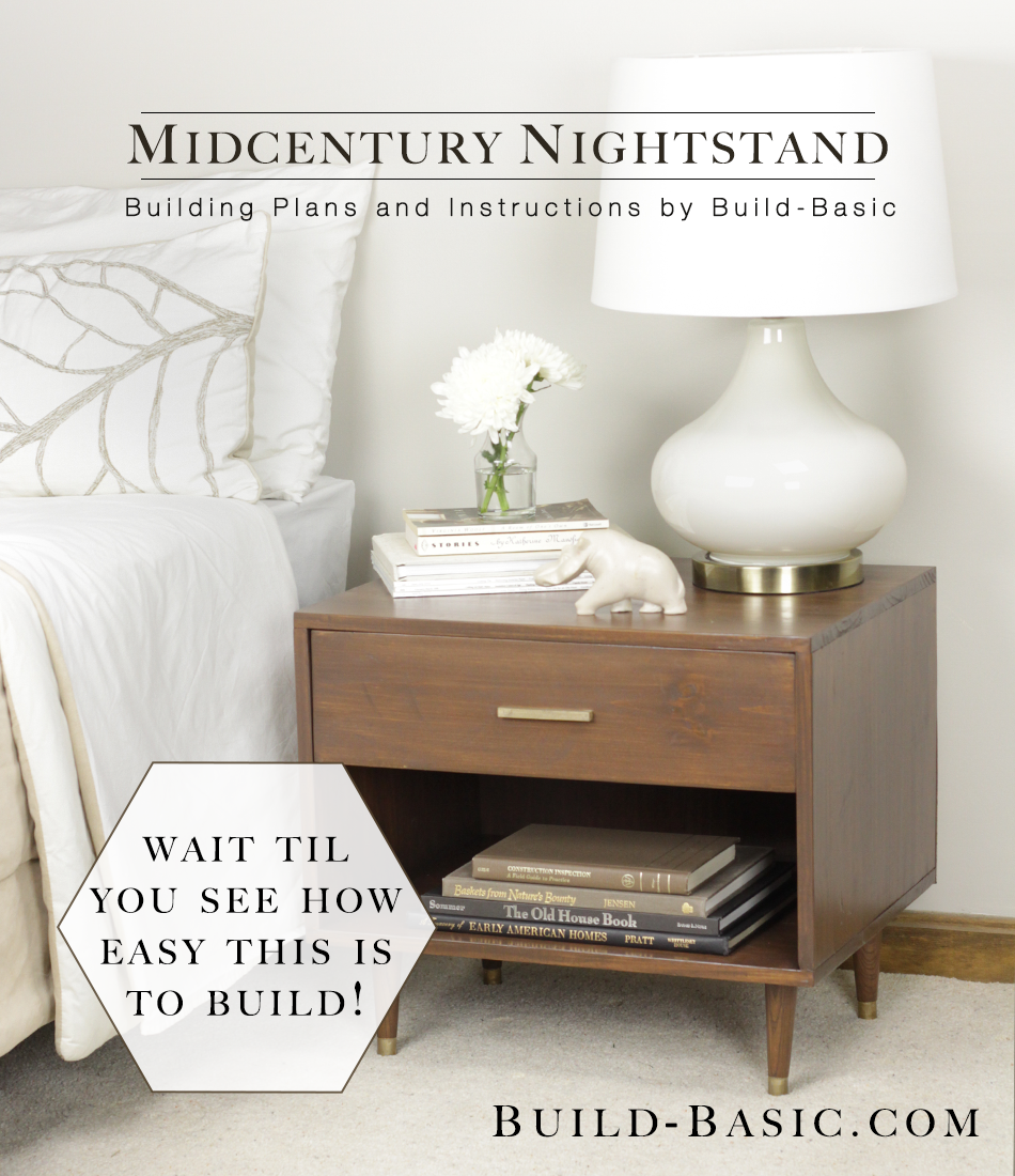 build a midcentury nightstand ‹ build basic Diy Bedroom End Tables