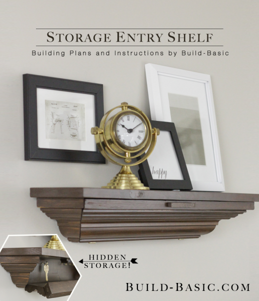 Build a Storage Entry Shelf - Building Plans by @BuildBasic www.build-basic.com