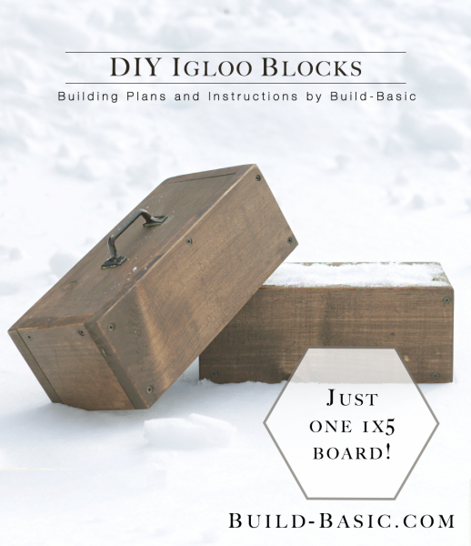 Build DIY Igloo Blocks - Building Plans by @BuildBasic www.build-basic.com