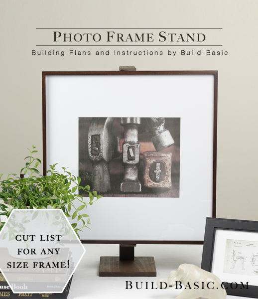 Build a Photo Frame Stand - Building Plans by @BuildBasic www.build-basic.com