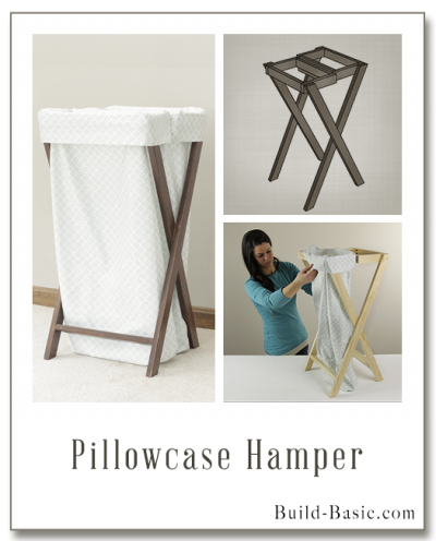 Build a Pillowcase Hamper - Building Plans by @BuildBasic www.build-basic.com