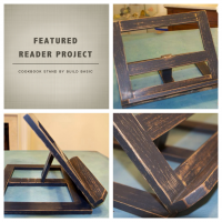 Reader Project- Cookbook Stand by www.build-basic.com