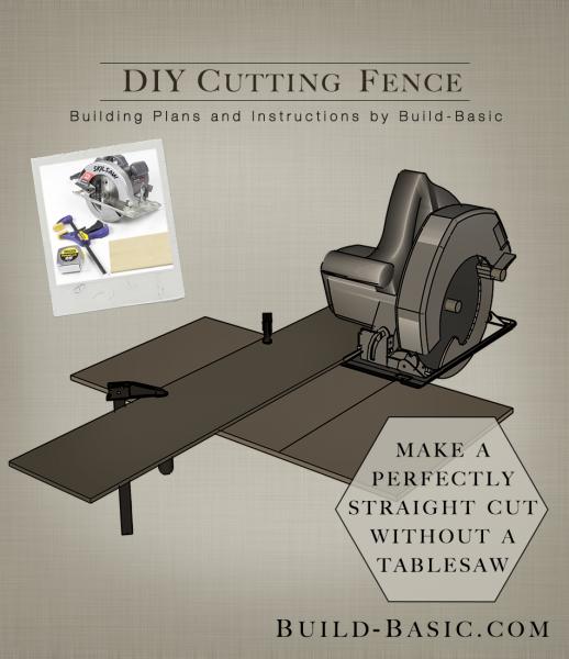 Build DIY Cutting Fence - Building Plans by @BuildBasic www.build-basic.com