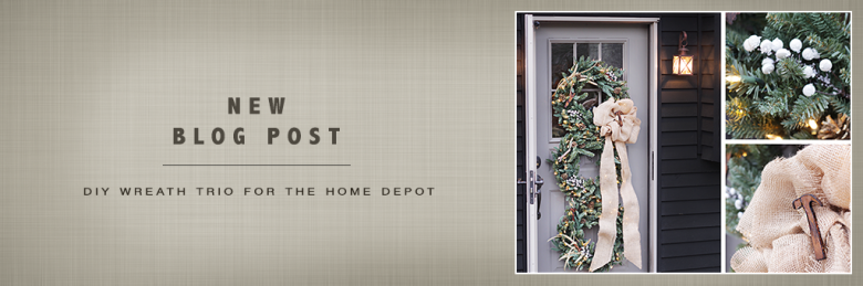 DIY Wreath Trio by Build Basic for The Home Depot - POJ Banner