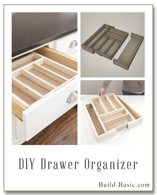 Build a DIY Drawer Organizer - Building Plans by @BuildBasic www.build-basic.com