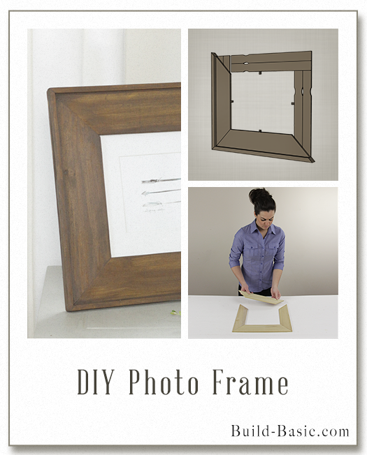 Build DIY Photo Frame - Building Plans by @BuildBasic www.build-basic.com