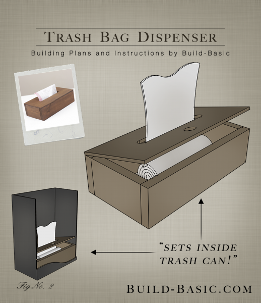 Build a Trash Bag Dispenser - Building Plans by @BuildBasic www.build-basic.com