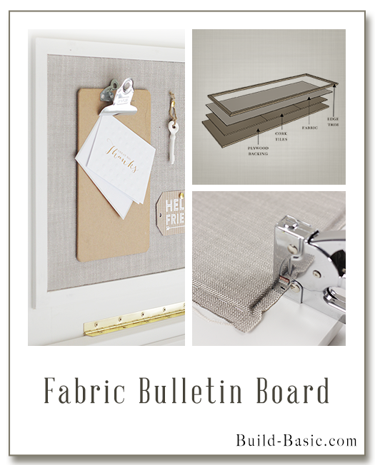 Build a DIY Fabric Bulletin Board - Building Plans by @BuildBasic www.build-basic.com