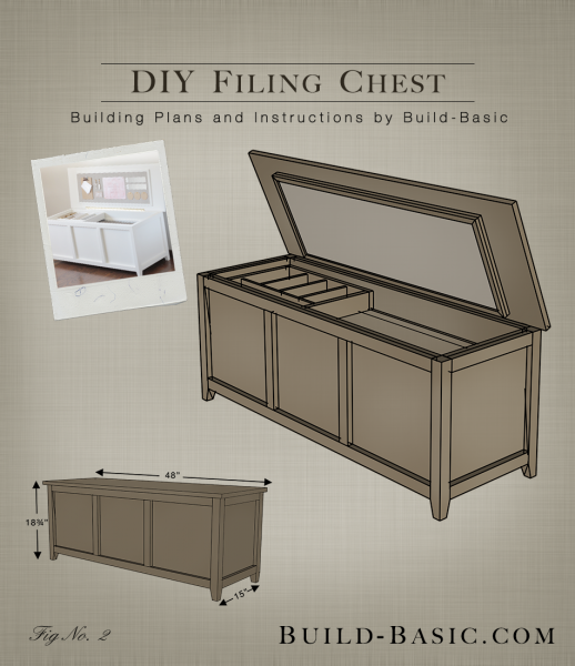 Build A Diy Filing Chest Building Plans By Buildbasic Www Basic