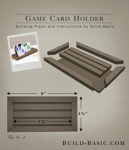 Build A Game Card Holder Build Basic