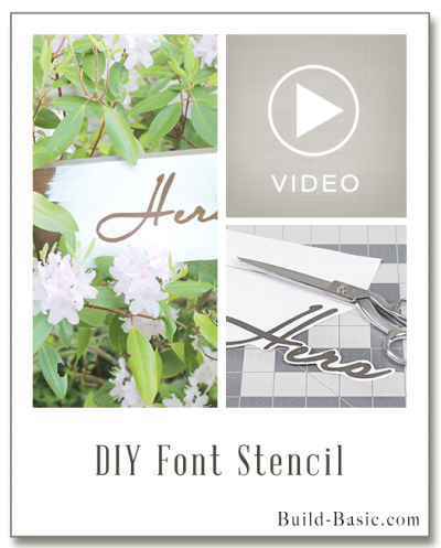 Make a DIY Font Stencil - Project Plans by @BuildBasic www.build-basic.com