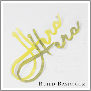 DIY Font Stencil by Build Basic - Step 9