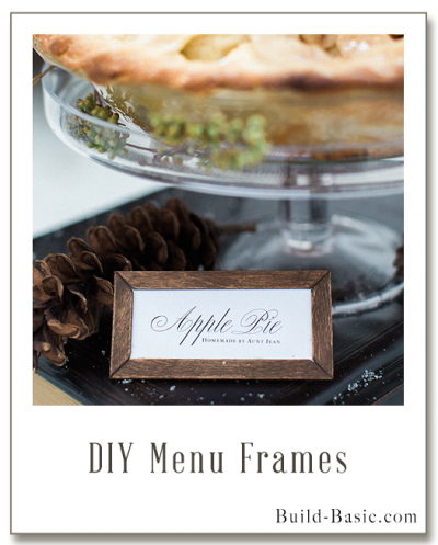 Build DIY Menu Frames - Building Plans by @BuildBasic www.build-basic.com