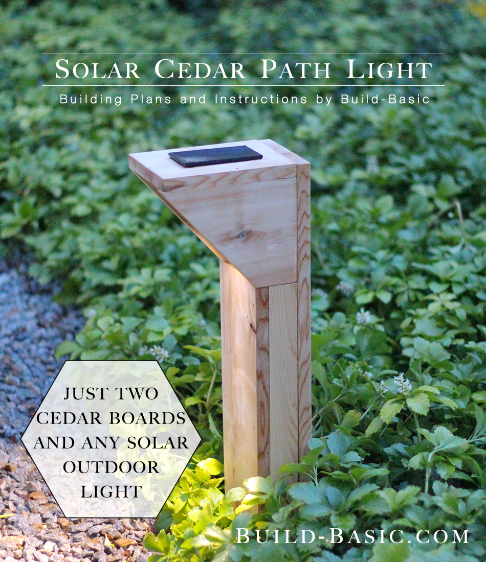 Build A Solar Cedar Path Light Basic Charger