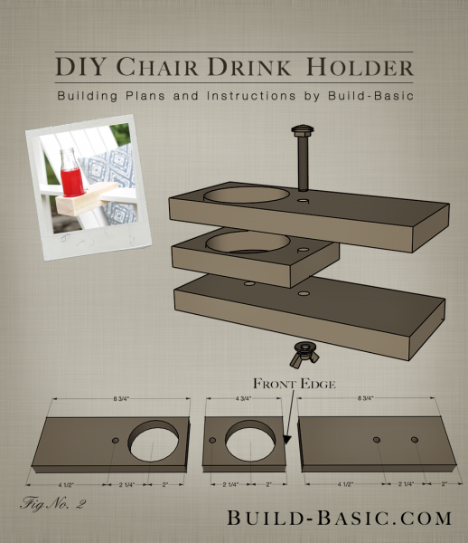 Build a DIY Chair Drink Holder - Building Plans by @BuildBasic www.build-basic.com