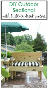 DIY Outdoor Sectional by Rain on a Tin Roof