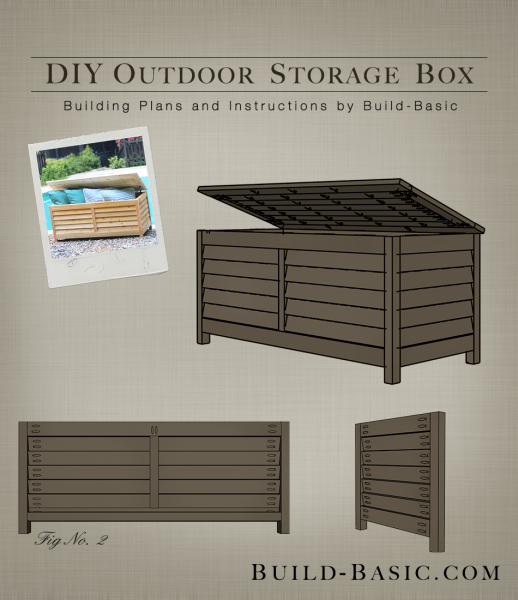 Build A Diy Outdoor Storage Box Build Basic