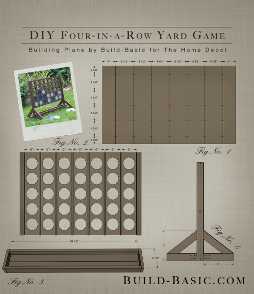 Four In A Row Yard Project Plans By Buildbasic Www Build