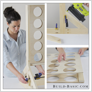 Four in a Row Yard Game by Build Basic for Home Depot - www.build-basic.com