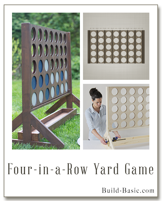 Four in a Row Yard Game by @BuildBasic - www.build-basic.com