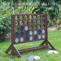 Four in a Row Yard Game by Build Basic for HThe Home Depot -www.build-basic.com - Opener