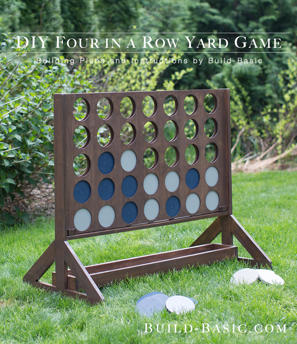 build a diy four in a row yard game u2039 build basic