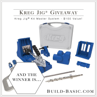 Kreg Jig Giveaway Winner Announced by Build-Basic.com