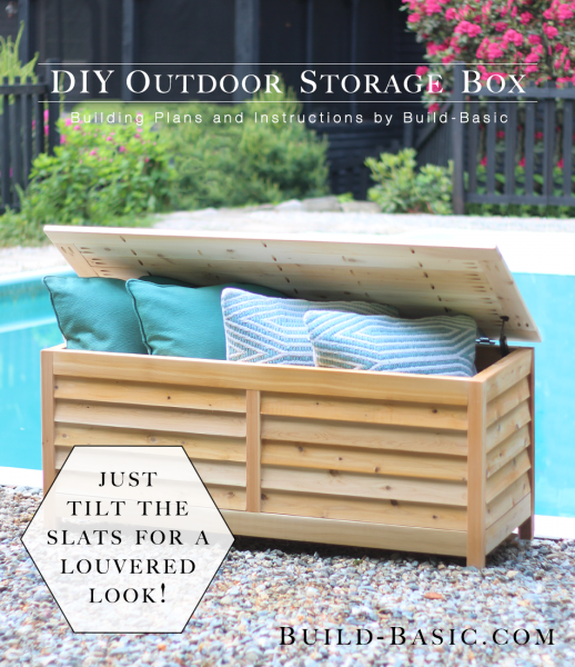 build a diy outdoor storage box build basic. Black Bedroom Furniture Sets. Home Design Ideas