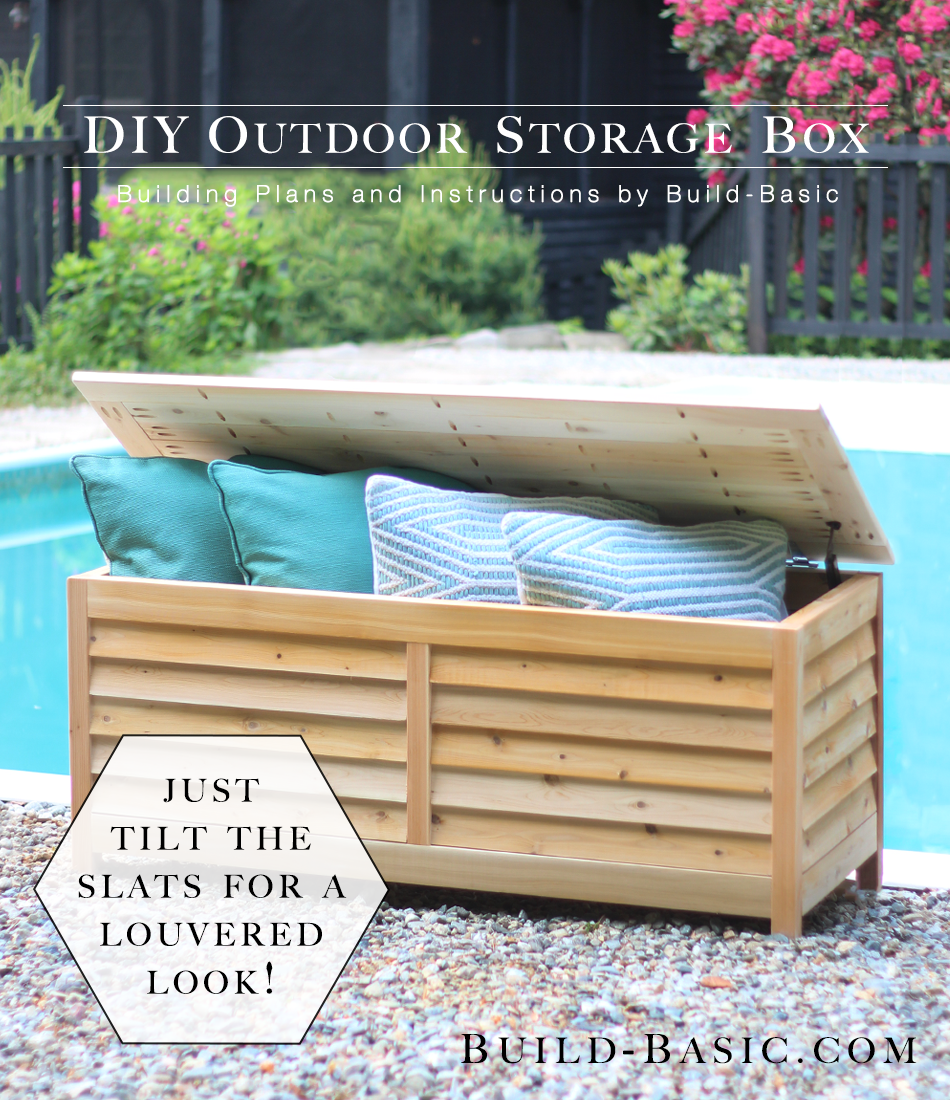 Build A Diy Outdoor Storage Box Build Basic